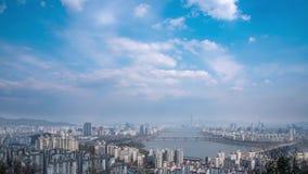 Han River Scenic Area em Seoul, a capital de Coreia do Sul video estoque