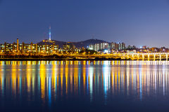 Han River in Seoul Royalty Free Stock Photos