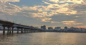Han river Seoul city with seoul tower Royalty Free Stock Image