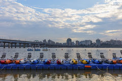 Han river Seoul city Royalty Free Stock Photos