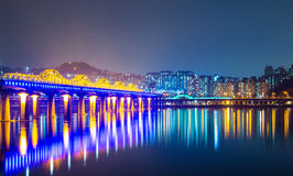 Han river in Seoul Royalty Free Stock Photo