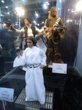 Han Solo,  Princess Leia & Chewie figure in Ani-Com & Games Hong Kong 2015 Stock Photo