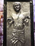 Han Solo in Star wars. 1:1 scale Han Solo display in TOY SOUL 2014 in Hong Kong Stock Image