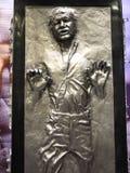 Han Solo in Sterrenoorlog stock afbeelding