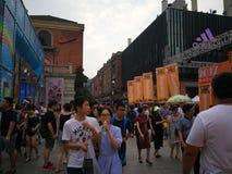 Han-Straße in Wuhan-Stadt Lizenzfreie Stockfotos
