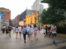 Han street in wuhan city Royalty Free Stock Image