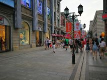 Han street in wuhan city Royalty Free Stock Photos