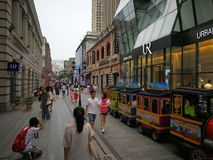 Han street in wuhan city Royalty Free Stock Photo