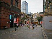 Han street in wuhan city Stock Images