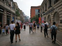 Han street in wuhan city Stock Photography
