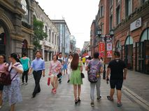 Han street in wuhan city Stock Photos