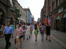 Han street in wuhan city royalty free stock images
