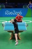 Han Yan at the Olympic Games in Rio 2016. Han Yan playing table tennis  at the Olympic Games in Rio 2016 Royalty Free Stock Photo