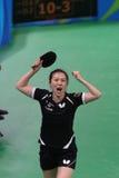 Han Yan at the Olympic Games in Rio 2016. Han Yan playing table tennis  at the Olympic Games in Rio 2016 Royalty Free Stock Image