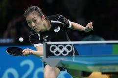 Han Yan at the Olympic Games in Rio 2016. Han Yan playing table tennis  at the Olympic Games in Rio 2016 Stock Photography