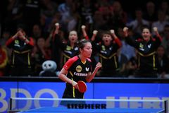 HAN Ying from Germany celebrate. 2017 European Championships - Final Germany-Romania. Luxembourg Royalty Free Stock Photo