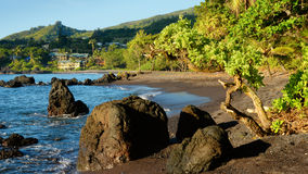 Hana Bay, Hana, Maui, Hawaï Photographie stock libre de droits
