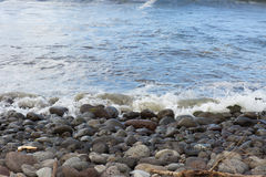 Hana Bay Pebble Beach Maui, Hawaii Arkivfoton