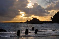 Hana Bay Sunrise, Maui, Hawaii Royalty Free Stock Photo
