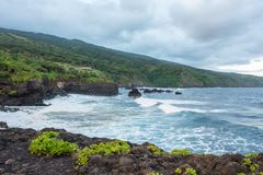 Hana, Hawaii. Hana in Maui, state of Hawaii, USA royalty free stock photography