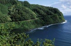 hana hawaii maui väg till royaltyfria foton