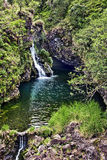 Hana Highway Waterfall. A beautiful little waterfall and pool are hidden just off Maui's Hana Highway Royalty Free Stock Photo