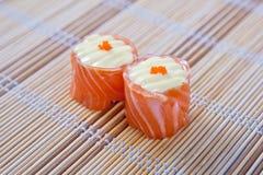 Hana Maki (Salmon slices with mayo) Stock Photos
