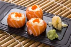 Hana Maki (Salmon slices with mayo) Royalty Free Stock Image