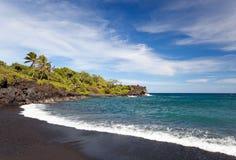 Hana maui coast. Beautiful coastline in gorgeous remote hana, maui, hawaii Royalty Free Stock Photo