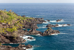 Hana maui coast Stock Images