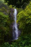 Hana Waterfall Maui Hawaii stock image