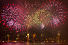 Hanabi Feuerwerke Lizenzfreie Stockfotos