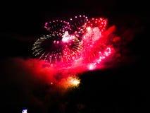 Hanabi/fuegos artificiales foto de archivo libre de regalías