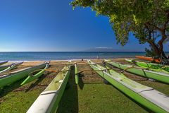 Hanakao'o Beach Park or Canoe Beach, west coast of Maui, Hawaii Royalty Free Stock Images