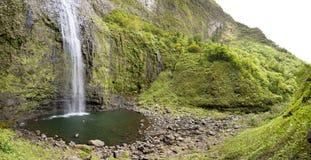 Hanakapi`ai Falls Panorama, Kauai Stock Photography