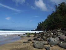 Hanakapi` ai Strand, Kauai, Hawaï Royalty-vrije Stock Fotografie