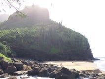Hanakapiai Beach on Na Pali Coast on Kauai Island, Hawaii - Kalalau Trail. Stock Photos