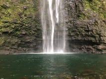 Hanakapiai fällt auf Küste Na Pali auf Kauai-Insel, Hawaii Stockbilder