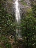 Hanakapiai spadki na Na Pali wybrzeżu na Kauai wyspie, Hawaje Obrazy Stock