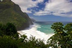 Hanakapiai strand Arkivbild