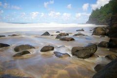 Hanakapiai strand Royaltyfria Bilder