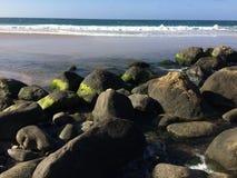 Hanakapiai strumień na Napali wybrzeżu na Kauai wyspie, Hawaje Fotografia Royalty Free
