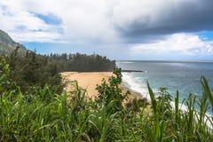 Hanalai Bay in Kauai, Hawaii Royalty Free Stock Photo