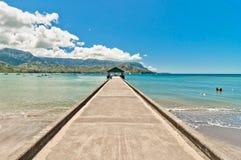 Hanalei海湾,考艾岛海岛-夏威夷 图库摄影