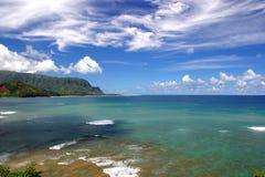 Hanalei Bay. A view of Bali Hai over beautiful, blue Hanalei Bay, Kauai Royalty Free Stock Photography