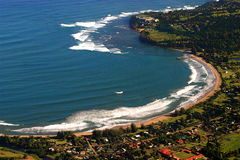 Hanalei bay. Kauai hawaii.  photo taken from helicopter Royalty Free Stock Images