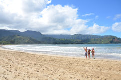 Hanalei Bay Beach Park Stock Photography