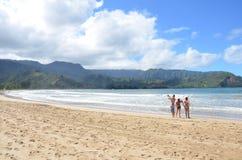Hanalei Bay Beach Park stock photography