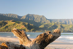 Hanalei Bay on island of Kauai Stock Image