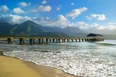 Hanalei Bay, Kauai. Beautiful day to Kauai, Hawaii Royalty Free Stock Photo